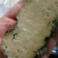 gekookte gluten, let niet op het groene randje