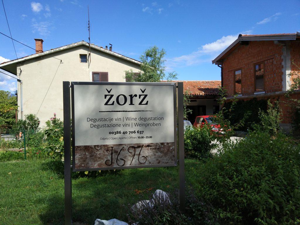 Wijn proeven in de Vipava vallei in Slovenië deel 1: Žorž