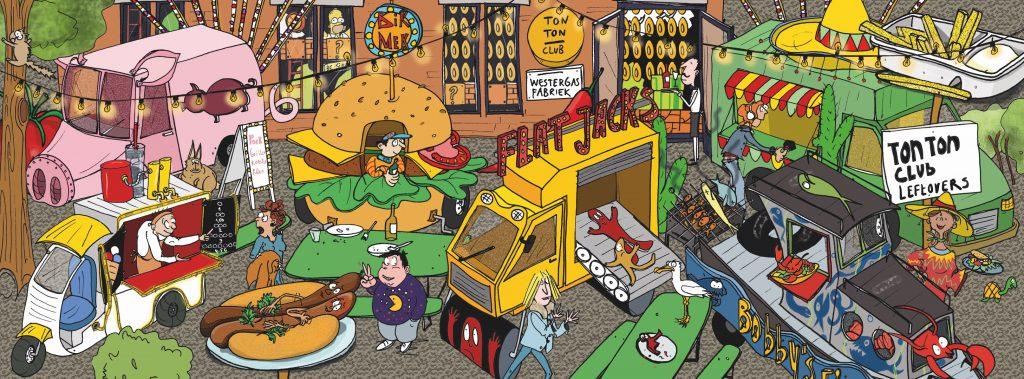 Foodtruck leftovers bij de TonTonclub