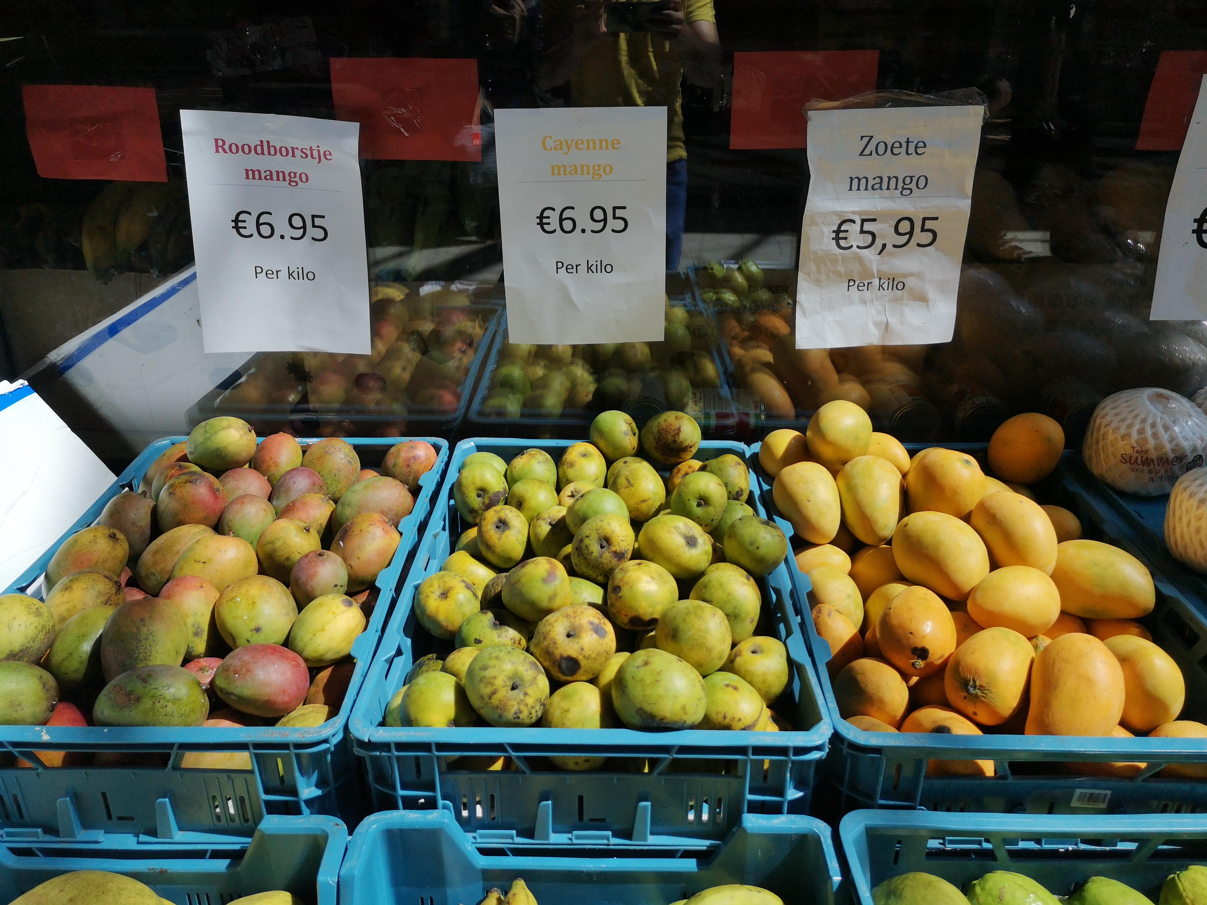 Drie mango's en een prutser