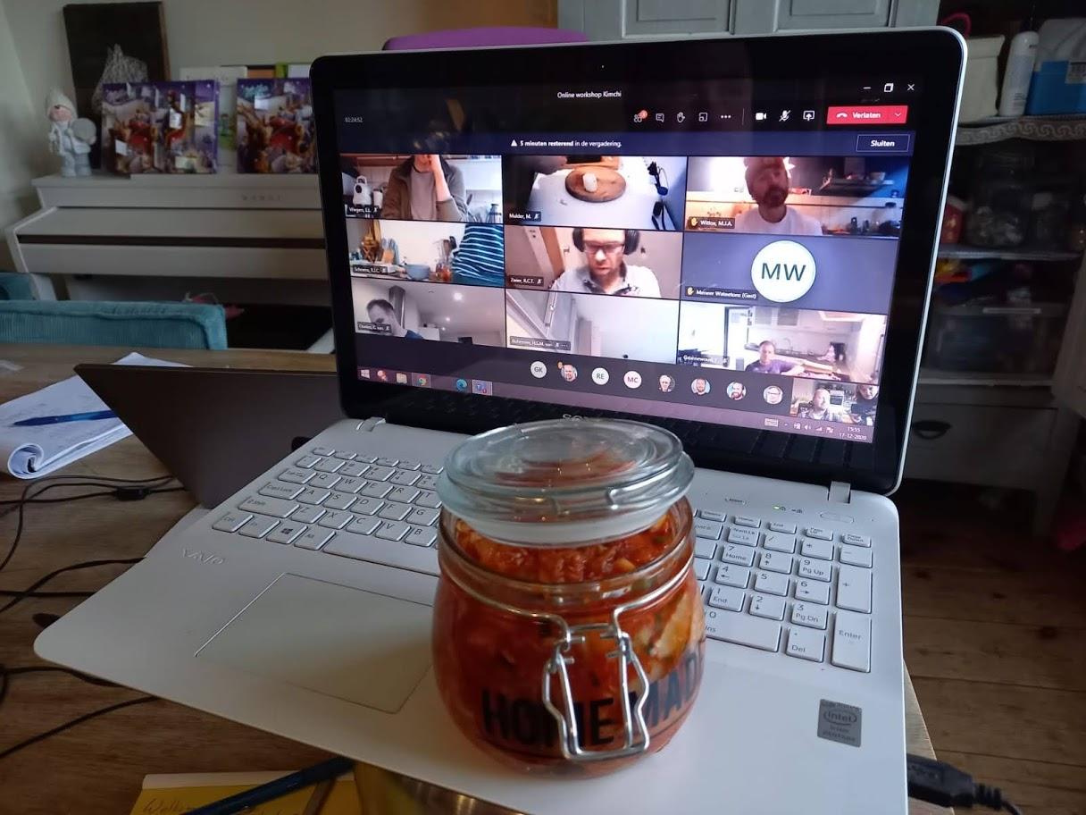 Online workshop kimchi maken bedrijfsuitje